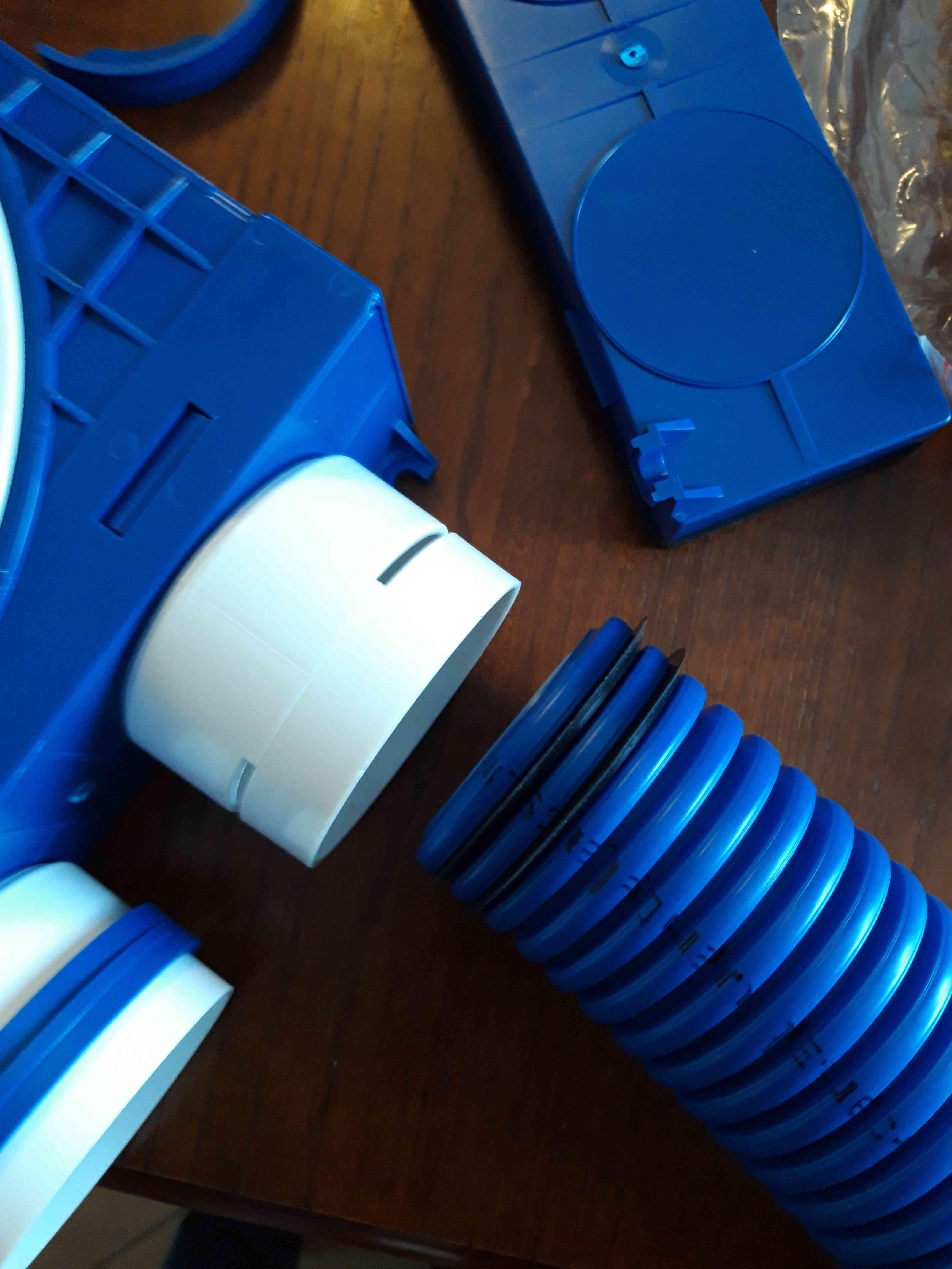 System Ventiflex przed montażem