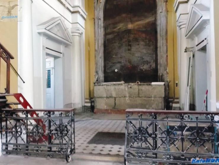 Obecny stan ołtarza w kościele. Żródło: FB Kalo NDM